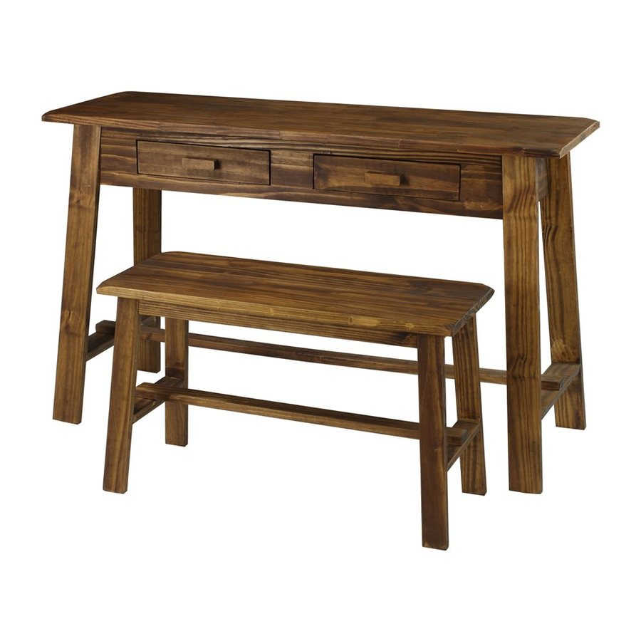Casual Home Rustic Brown Writing Desk