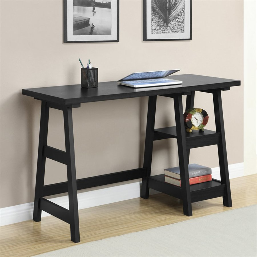 convenience concepts designs2go transitional black writing desk - Black Writing Desk