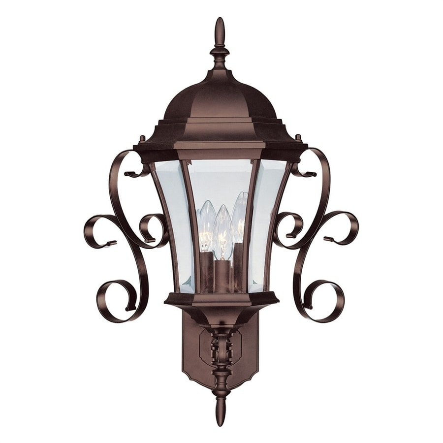 Acclaim Lighting New Orleans 22.25-in H Burled Walnut Outdoor Wall Light