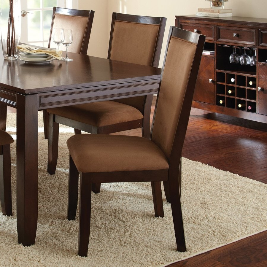 Steve Silver Company Set of 2 Cornell Merlot Cherry Side Chairs