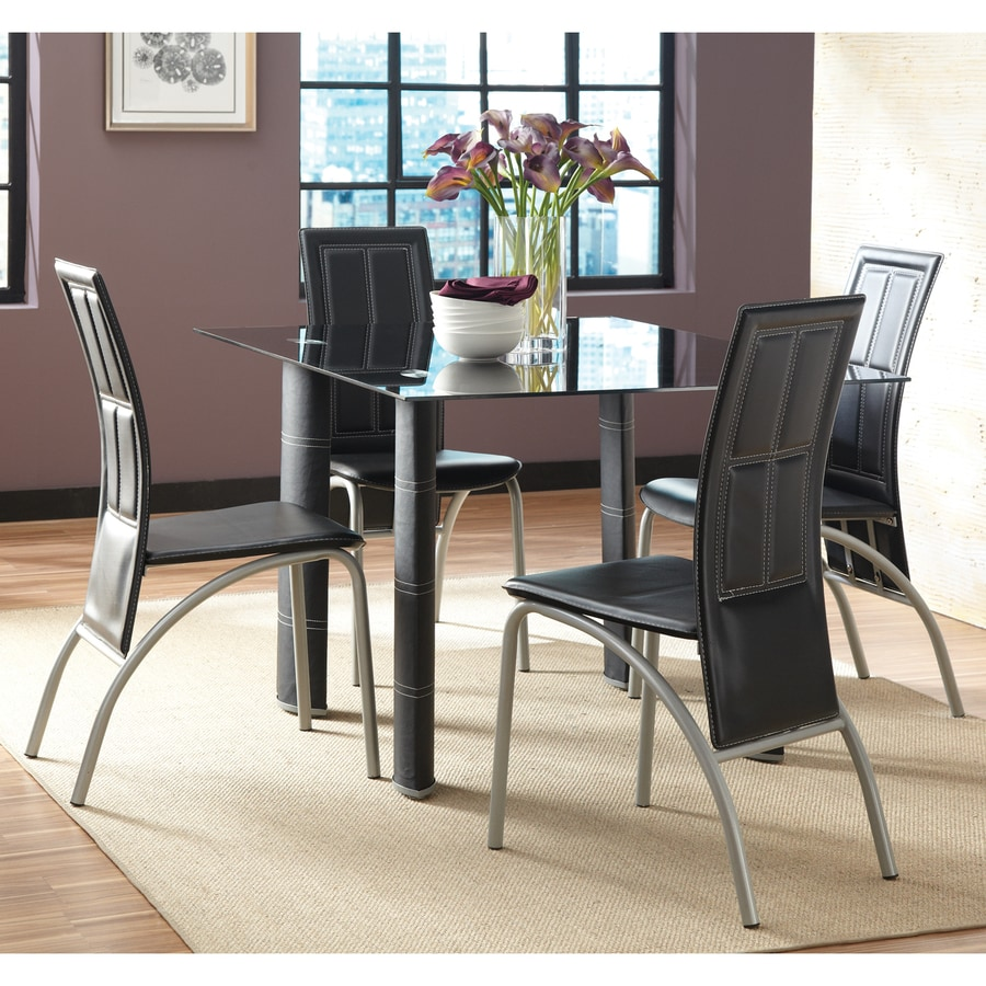 Steve Silver Company Set of 4 Calvin Grey Side Chairs