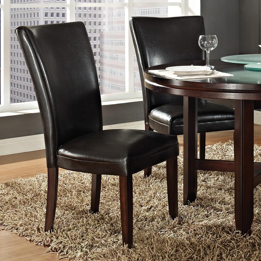 Steve Silver Company Set of 2 Hartford Burnished Dark Oak Side Chairs