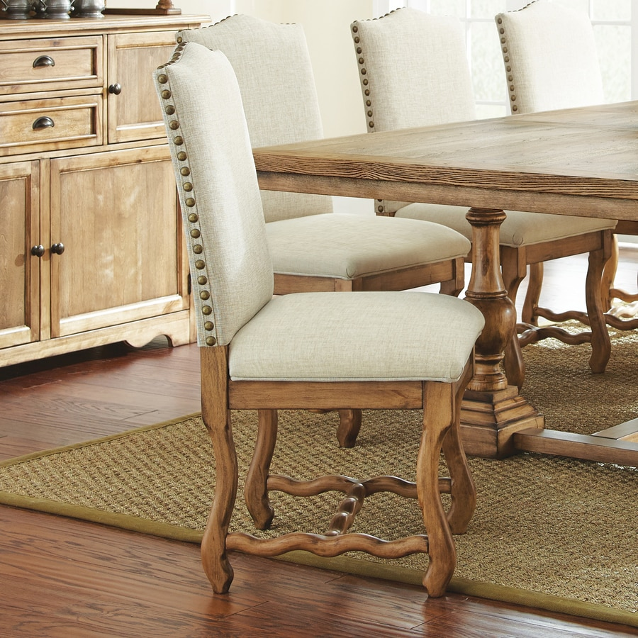 Steve Silver Company Set of 2 Plymouth Burnished Oak Side Chairs