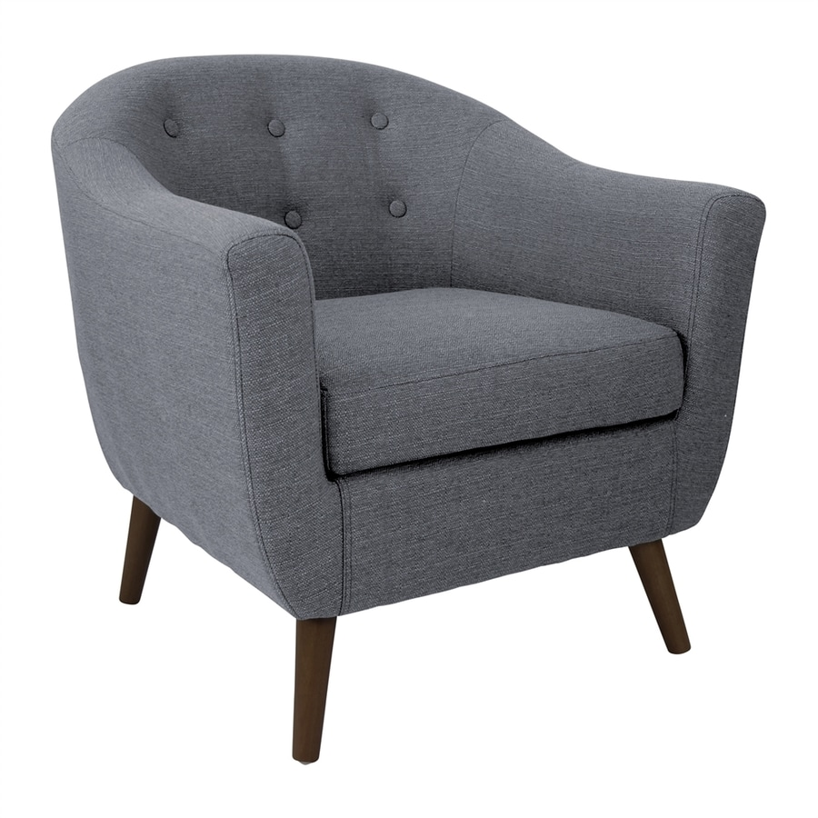 Lumisource Rockwell Charcoal Grey Polyester Accent Chair
