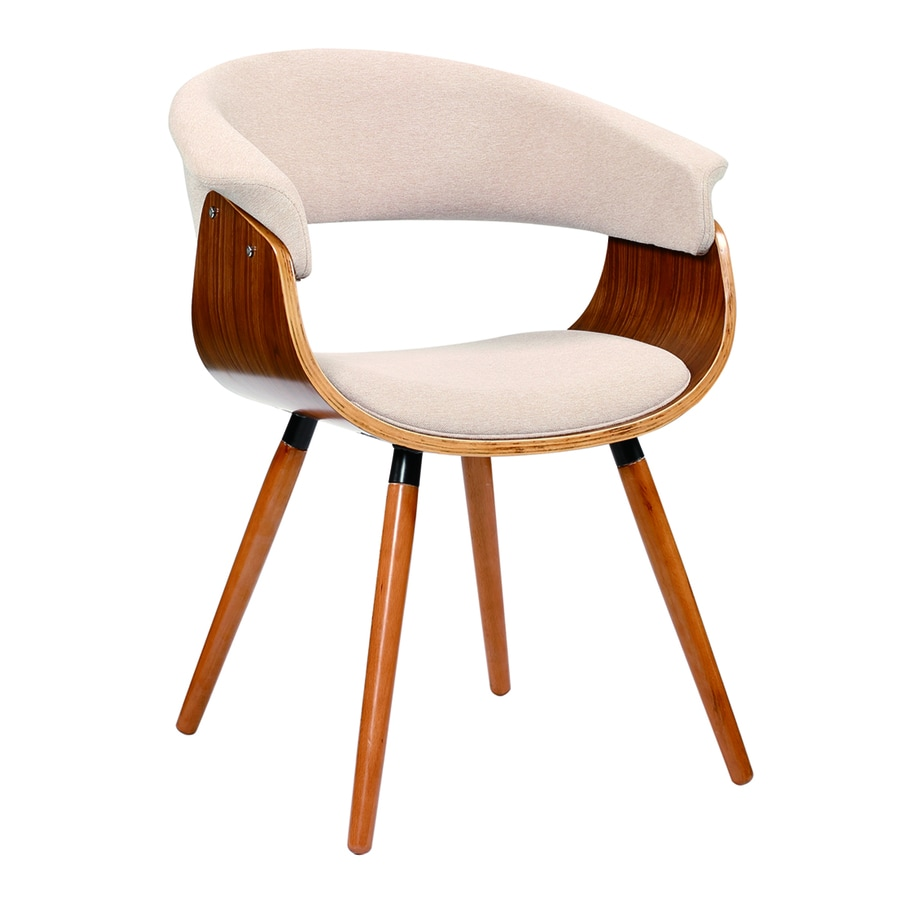 Lumisource Cream Vintage Mod Accent Chair