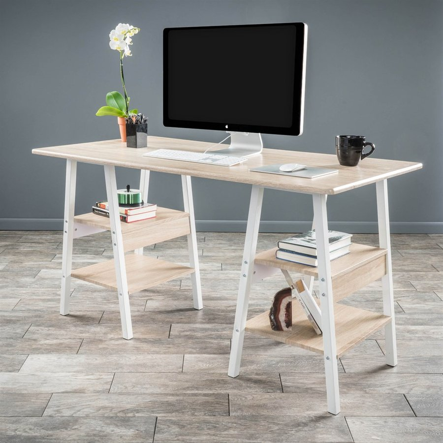 Best Selling Home Decor Zeta Light Maple/White Computer Desk