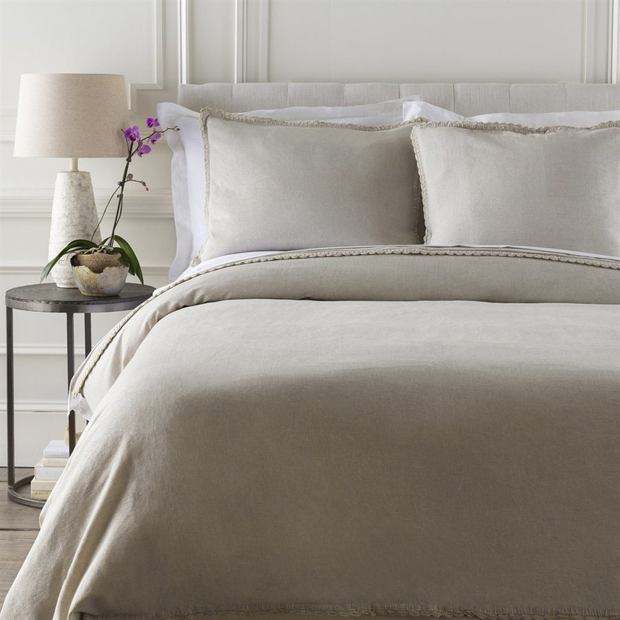 Surya Audrey Light Gray/Silver Twin Duvet Cover
