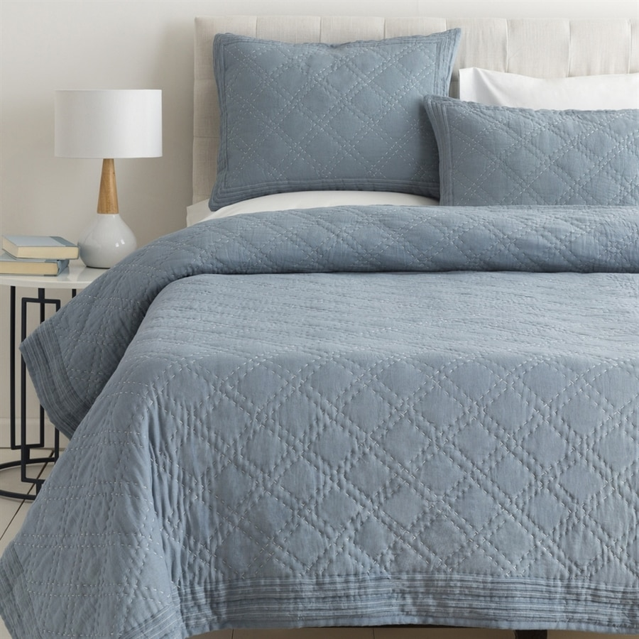 Surya Kojo Denim Twin Duvet Cover Set