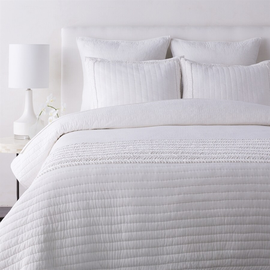 Surya Lindon White Full/Queen Quilt