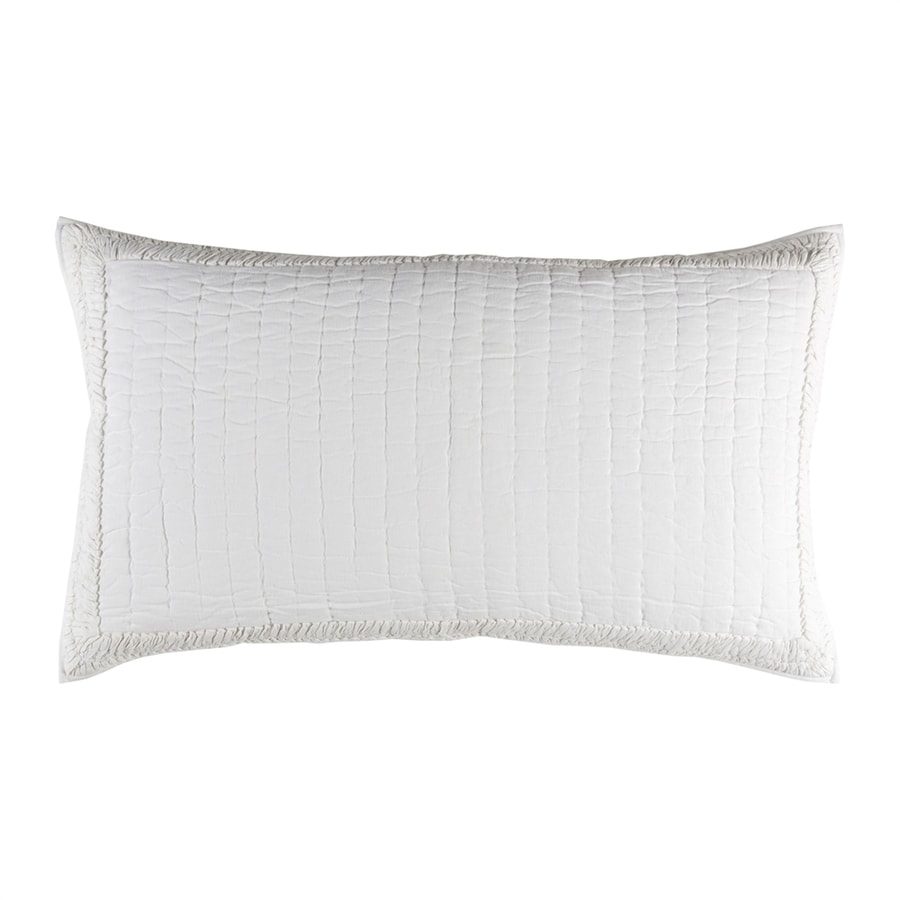 Surya Lindon White King Blend Pillow Case