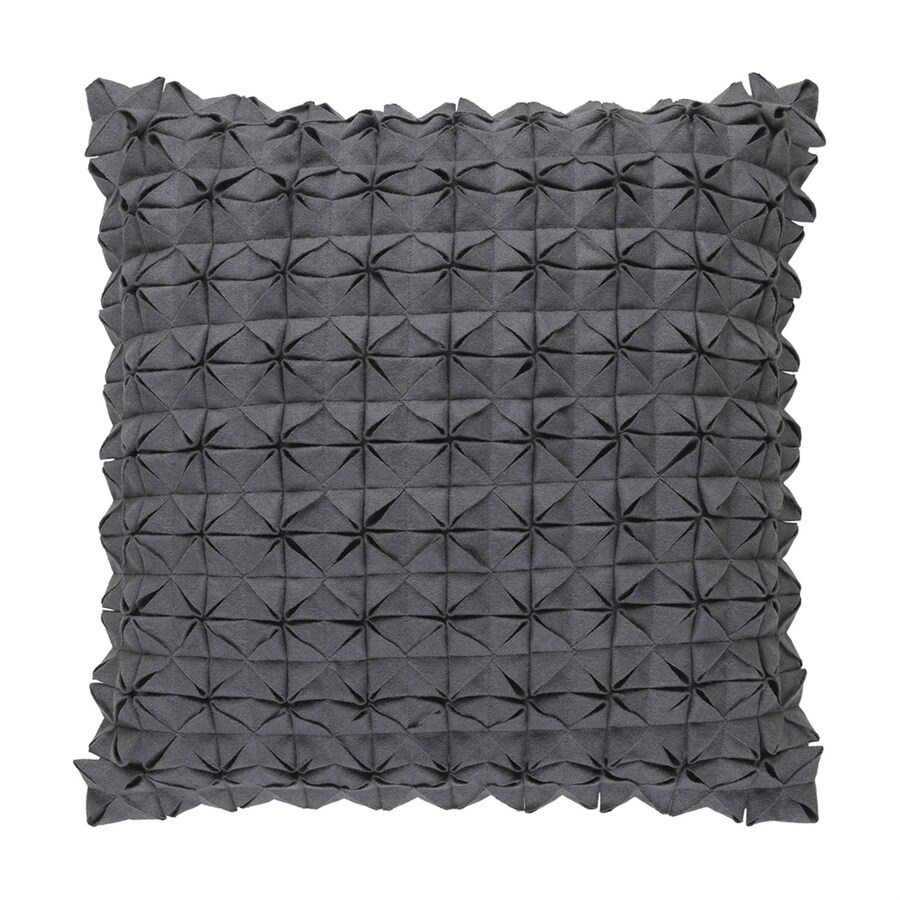Surya Structure 18-in W x 18-in L Medium Gray Square Indoor Decorative Pillow
