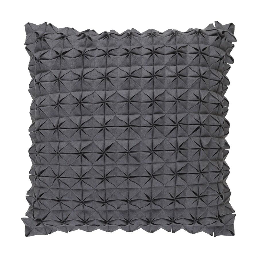 Surya Structure 18-in W x 18-in L Medium Gray Square Indoor Decorative Pillow