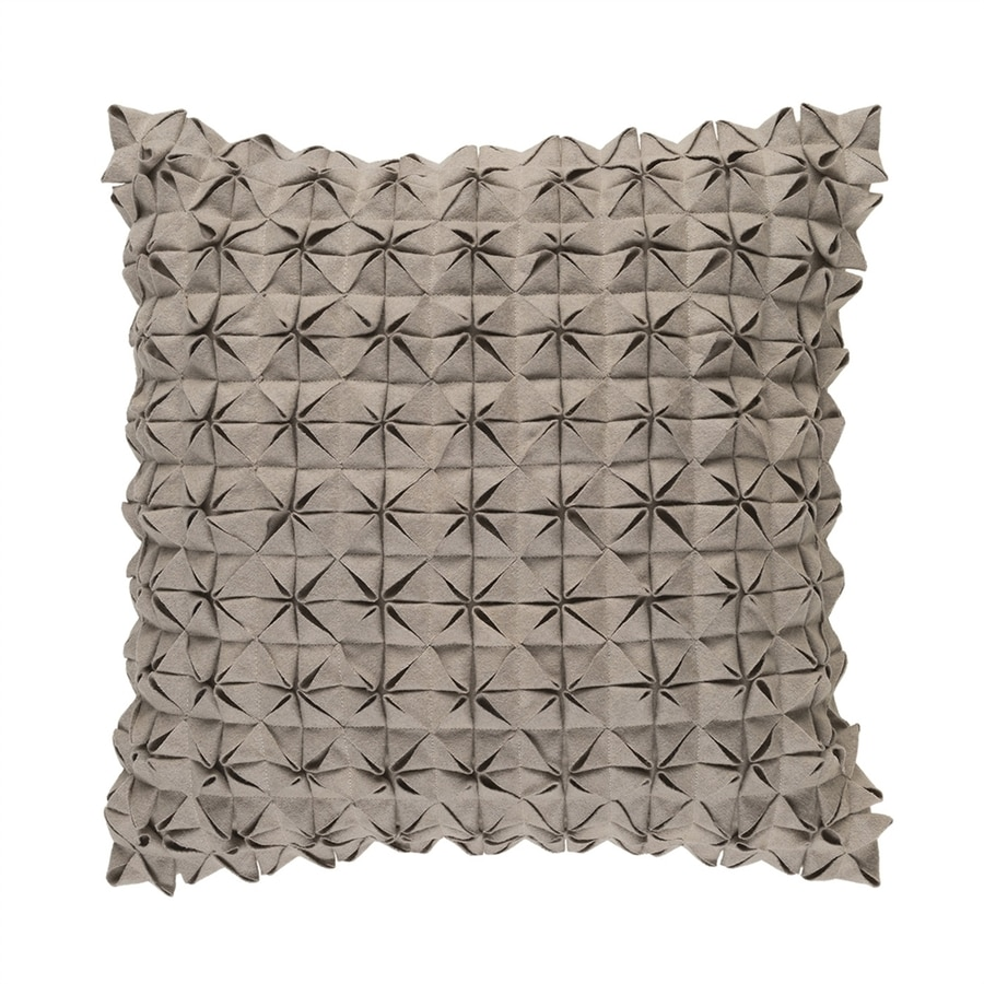 Surya Structure 18-in W x 18-in L Taupe Square Indoor Decorative Pillow