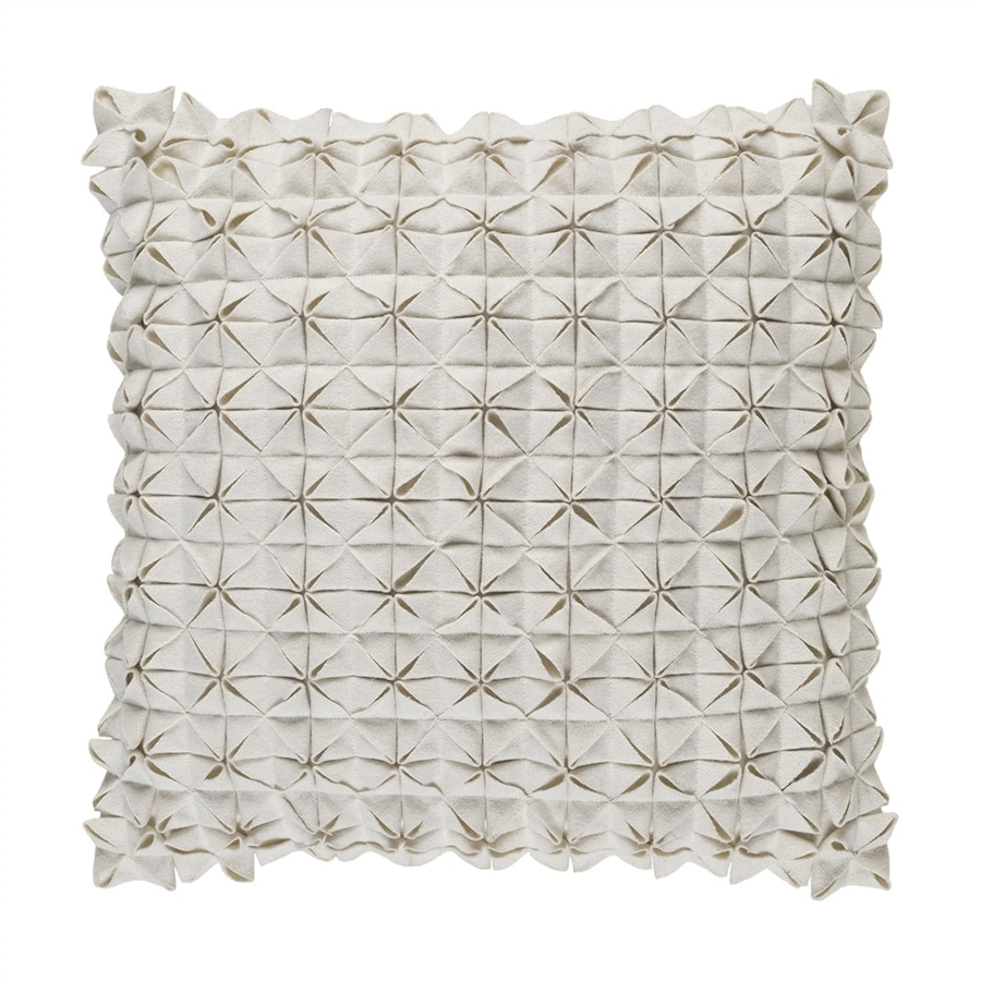 Surya Structure 18-in W x 18-in L White Square Indoor Decorative Pillow