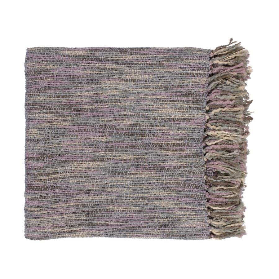Surya Teegan Mauve/Gray 78-in L x 55-in W Acrylic Throw