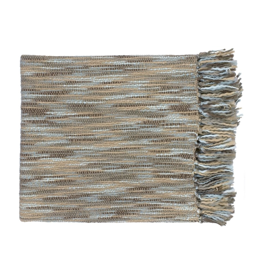 Surya Teegan Blue/Beige 78-in L x 55-in W Acrylic Throw