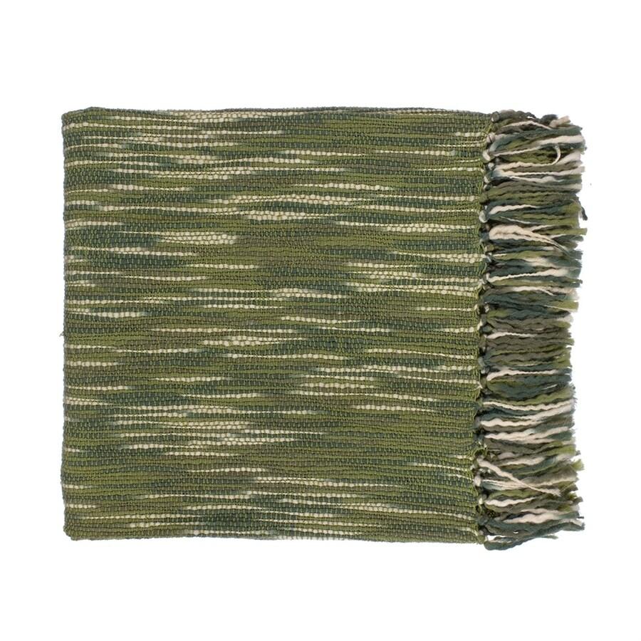Surya Teegan Green/Ivory 78-in L x 55-in W Acrylic Throw