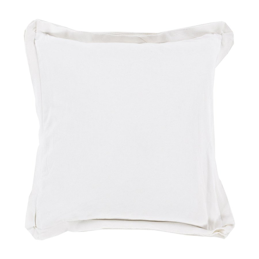 Surya 18-in W x 18-in L White Square Indoor Decorative Pillow