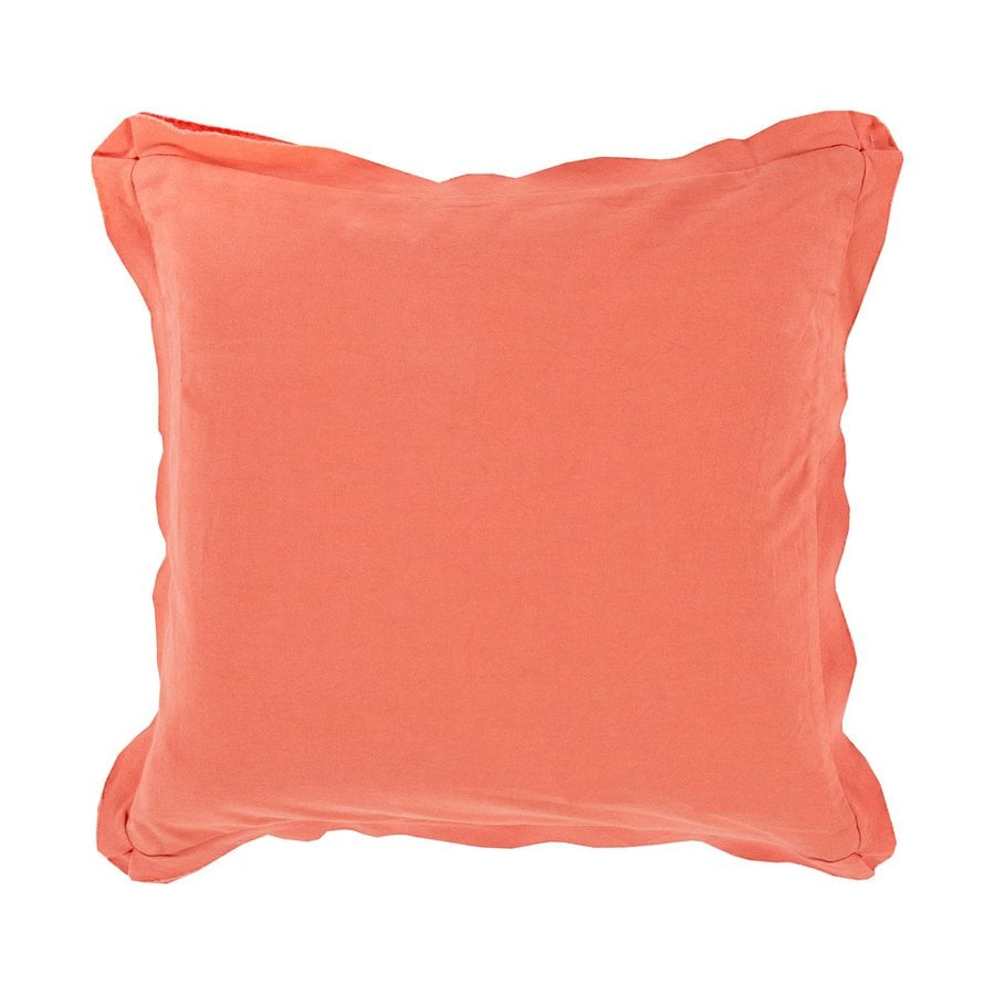 Surya 18-in W x 18-in L Coral Square Indoor Decorative Pillow