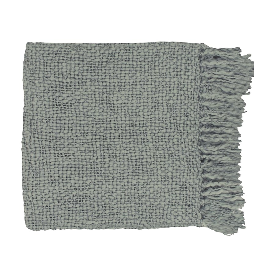 Surya Tobias Gray 71-in L x 51-in W Blend Throw