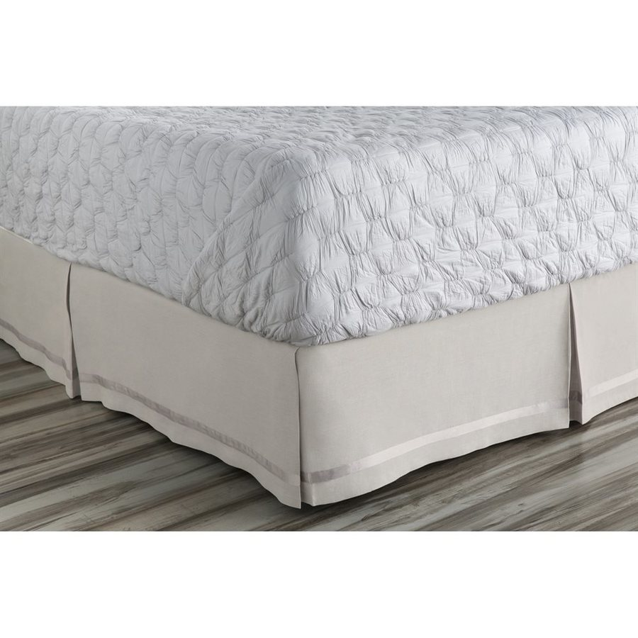 Surya Versaille Natural California King 15-in Bed Skirt