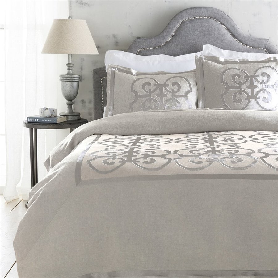 Surya Versaille 3-Piece Natural Full/Queen Duvet Set
