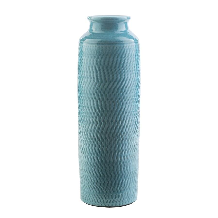 Surya Zuniga Teal 100% Ceramic Vase