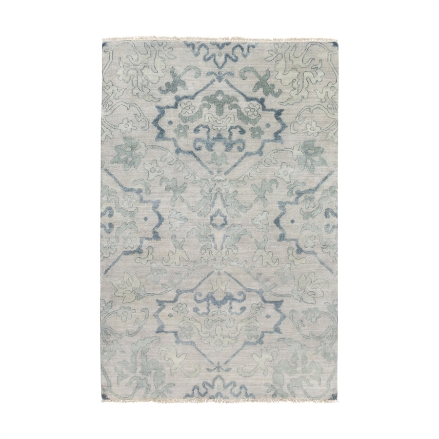 Surya Hillcrest Rectangular Indoor Hand-Knotted Oriental Area Rug (Common: 5 x 8; Actual: 5.5-ft W x 8.5-ft L)