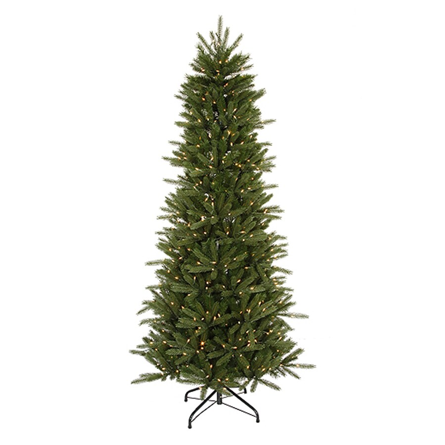 Northlight 4.5-ft 391-Tip Pre-Lit Slim Artificial Christmas Tree with 200 Clear White Incandescent Lights