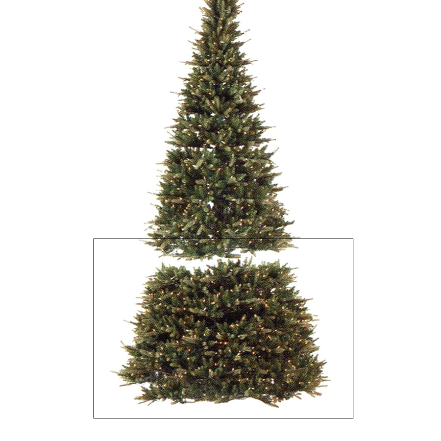 Northlight Extend-a-tree 7-ft-Count Pre-lit Artificial Christmas Tree with Constant 450 White Clear Incandescent Lights