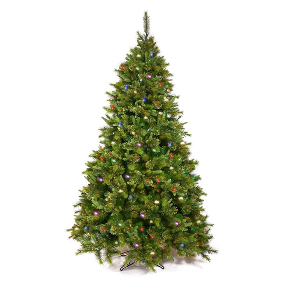 Northlight 3-ft 223-Tip Pre-Lit Artificial Christmas Tree with 100 Multicolor Incandescent Lights