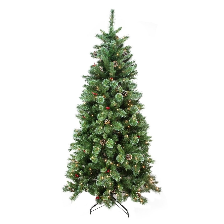 Northlight 6.5-ft Pre-lit Artificial Christmas Tree with 300 Constant Clear White Incandescent Lights
