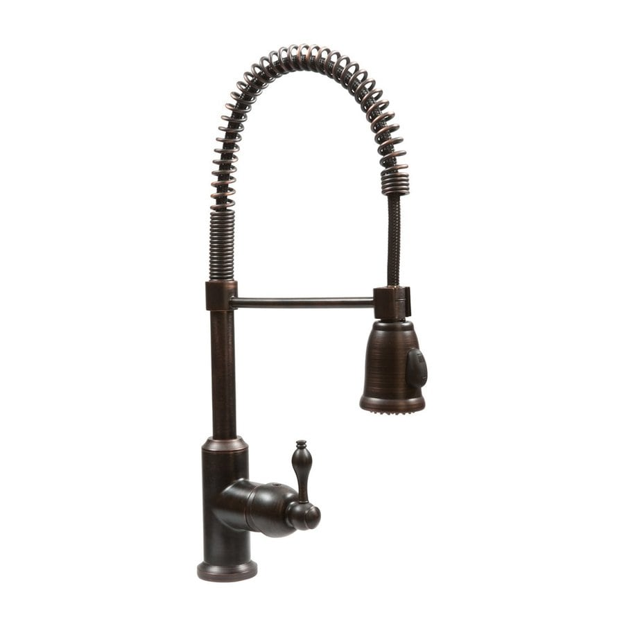 Premier Copper Products Oil-Rubbed Bronze 1-Handle Deck Mount Pull-Down Kitchen Faucet