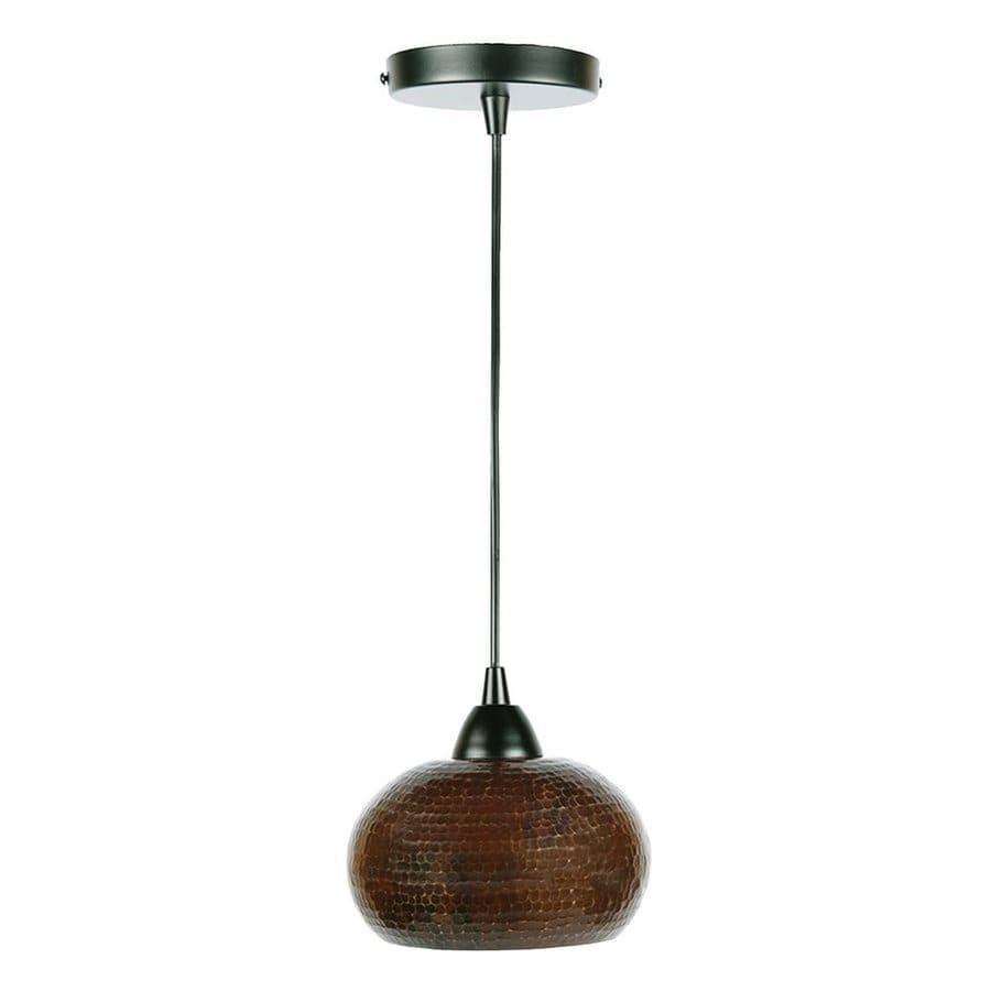 Premier Copper Products 4-in Oil-Rubbed Bronze Rustic Mini Oval Pendant