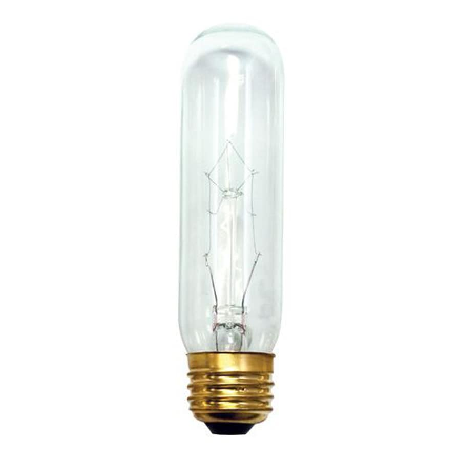 Shop Cascadia Lighting 20 Pack 25 Watt Dimmable Warm White T10 Incandescent Tube Light Bulb At