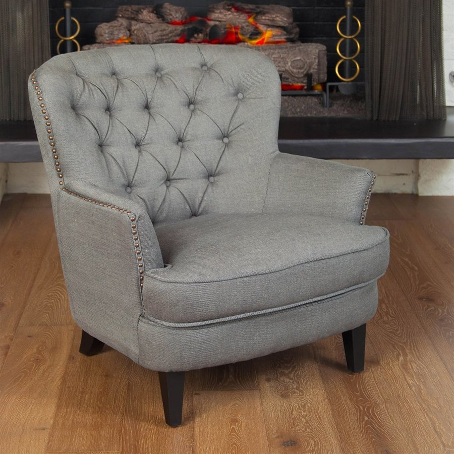 Charmant Best Selling Home Decor Tafton Grey Linen Club Chair