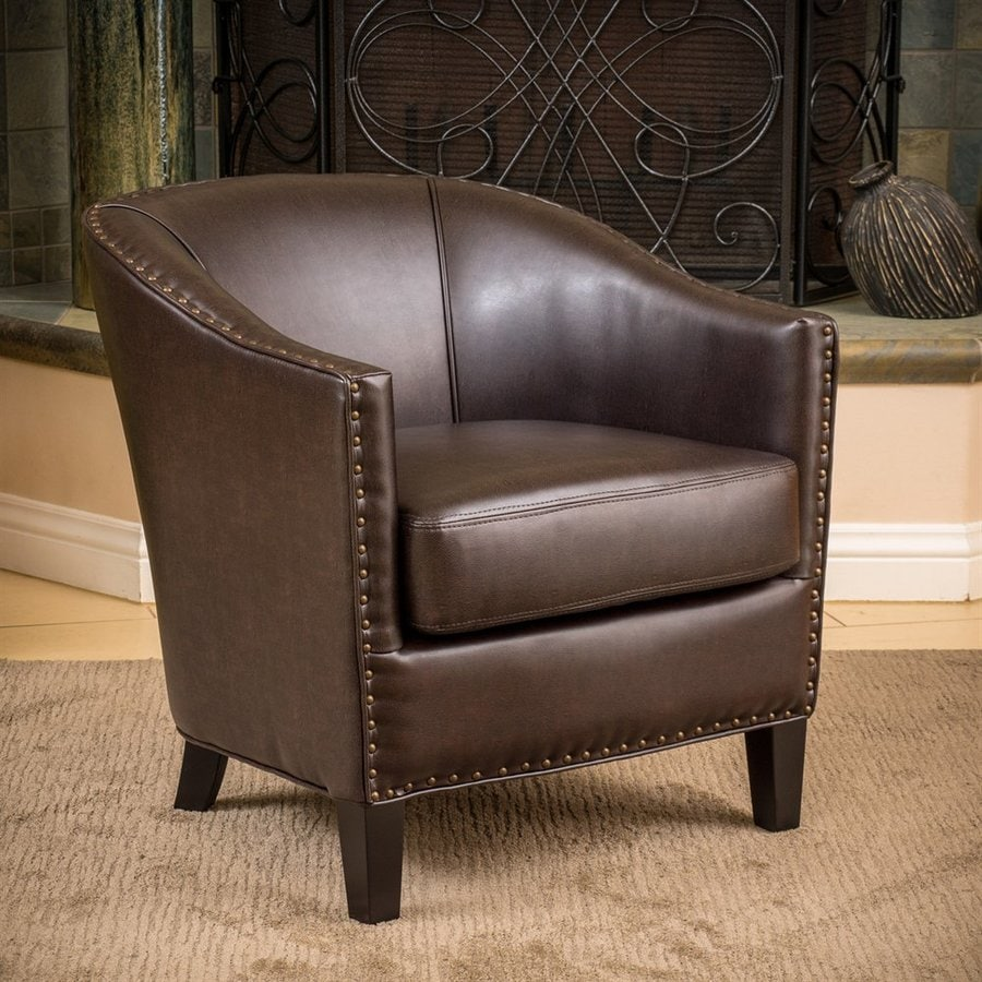 Home Decor Austin: Best Selling Home Decor Austin Brown Faux Leather Club