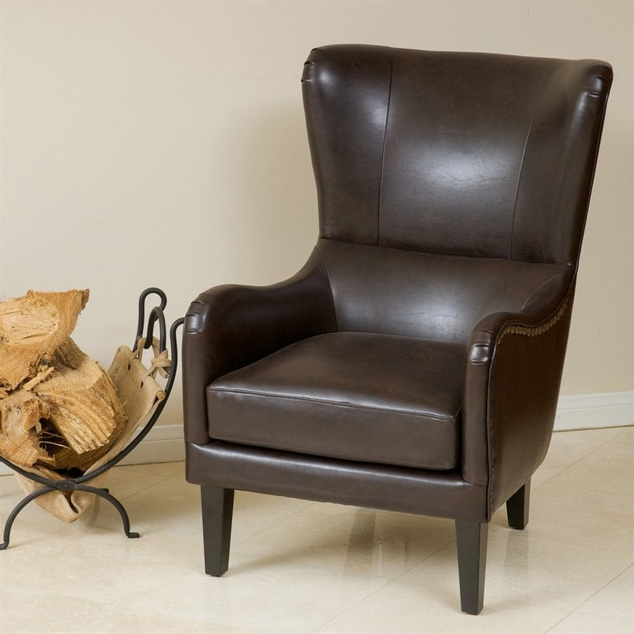 Best Selling Home Decor Lorenzo Brown Faux Leather Club Chair