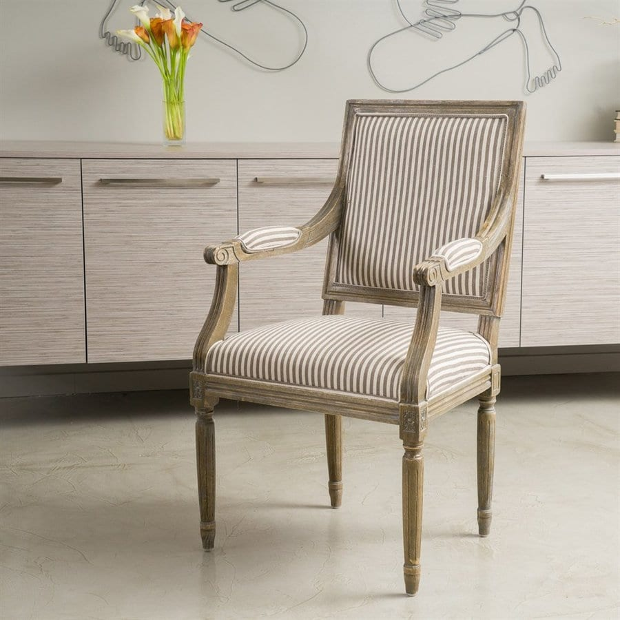Best Selling Home Decor Madison Coffee Stripe Polyester Chair