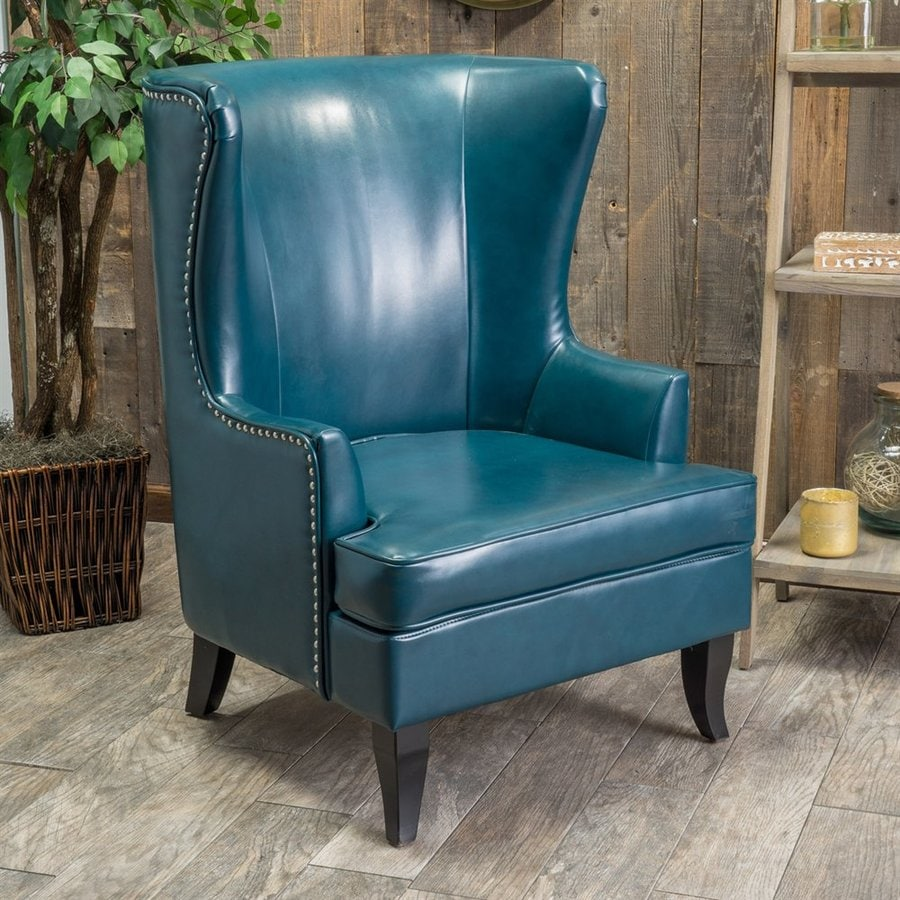 Best Selling Home Decor Canterbury Teal Bonded Leather Accent Chair