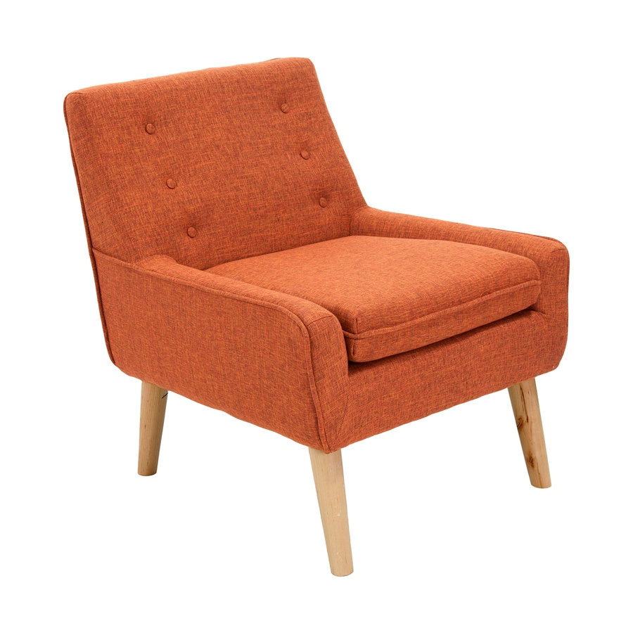 Best Selling Home Decor Reese Casual Orange Polyester Blend Accent Chair