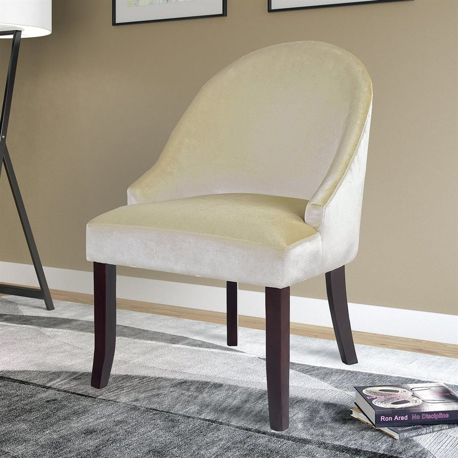 CorLiving Antonio Cream Velvet Accent Chair