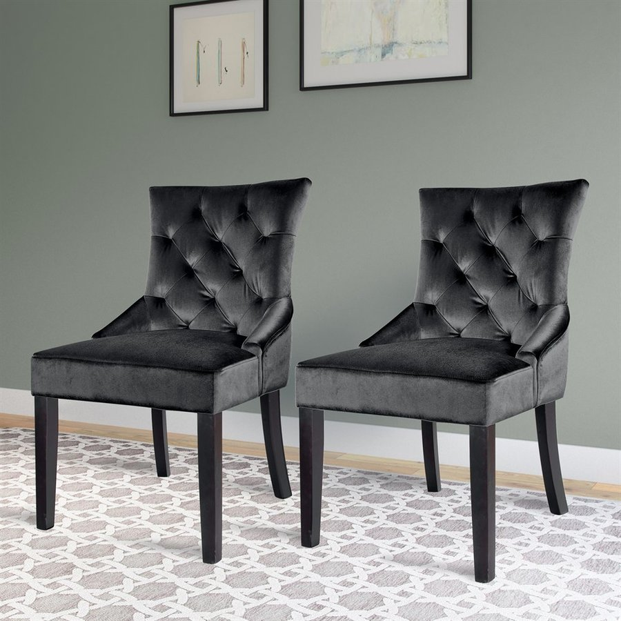 CorLiving Antonio Dark Grey Velvet Accent Chair