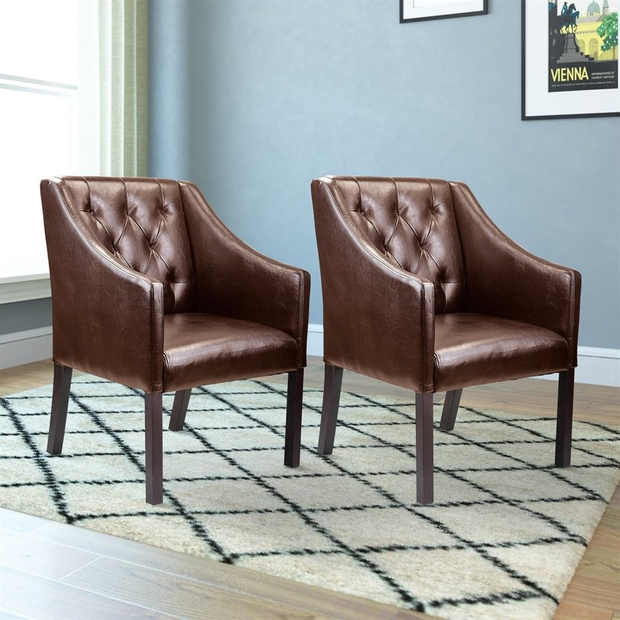CorLiving Set of 2 Antonio Brown Club Chair
