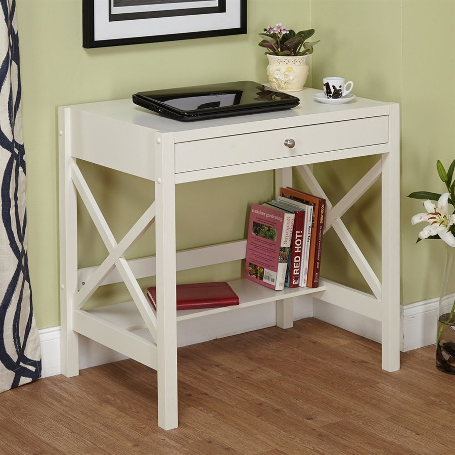 Attirant TMS Furniture Transitional White Writing Desk