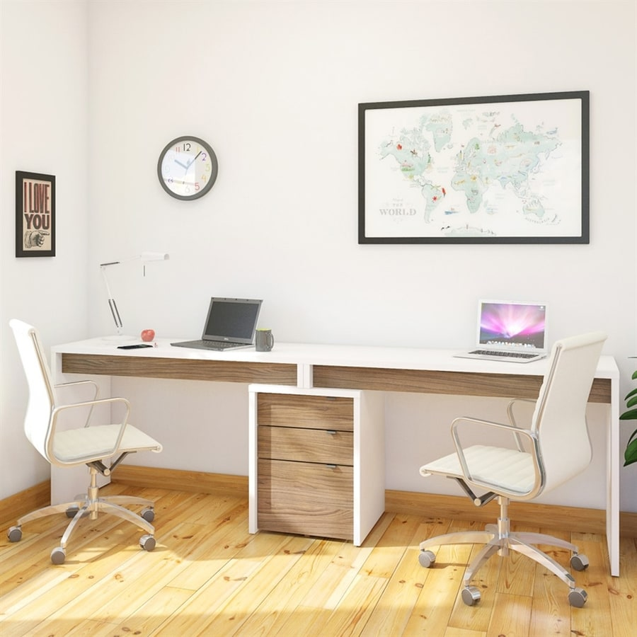 Shop Nexera Liber T Contemporary White Computer Desk At