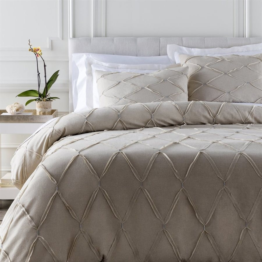 Surya Aiken 3-Piece Natural King Duvet Set