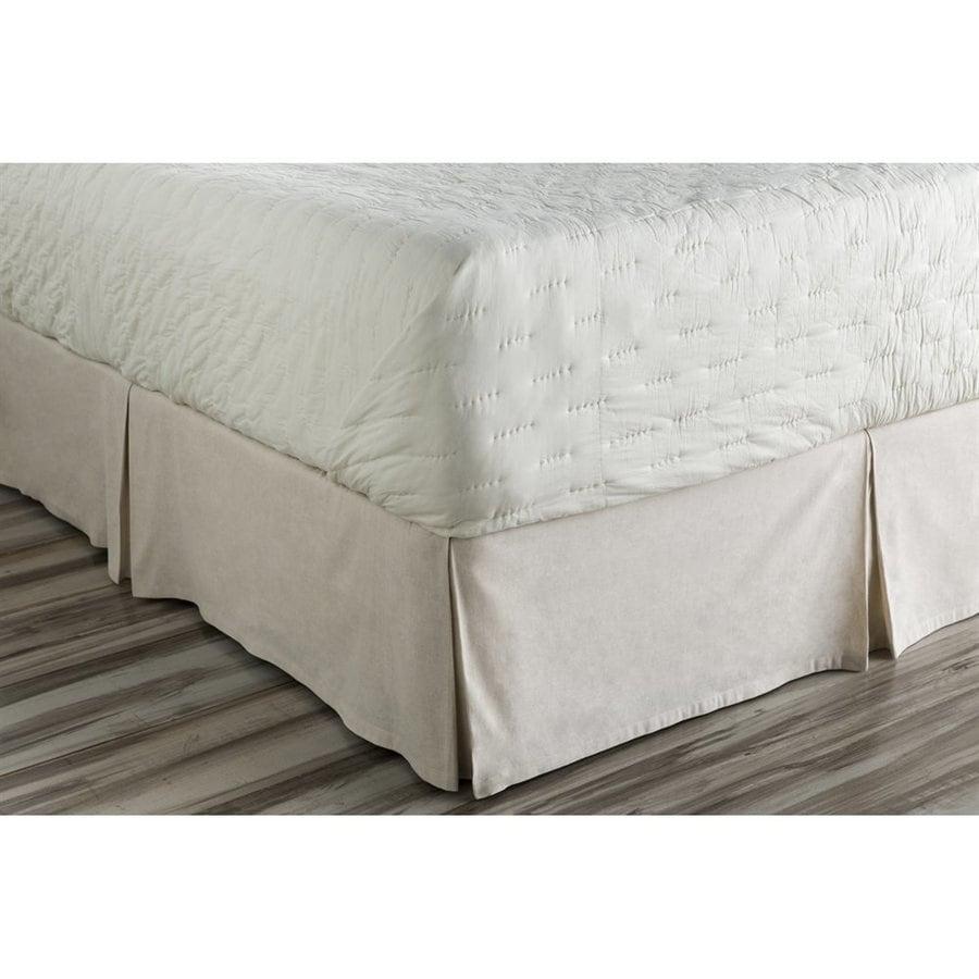 Surya Aiken Natural Twin 15-in Bed Skirt