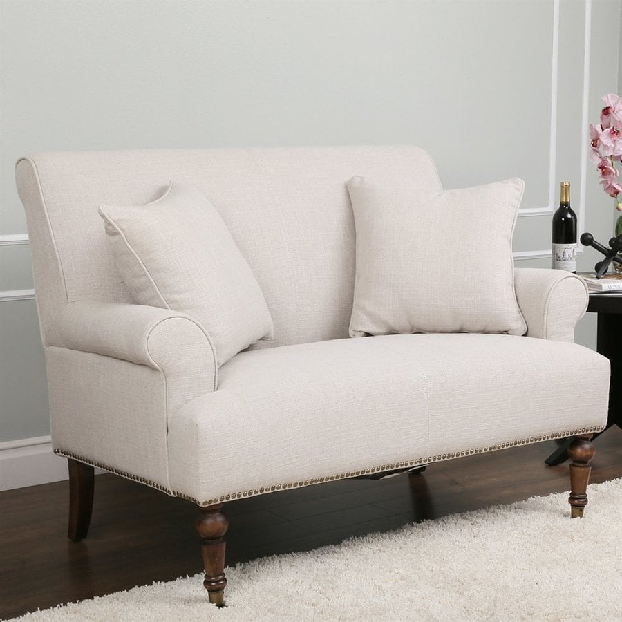 Abbyson Living Monica Pedersen Light Grey Linen Sofa
