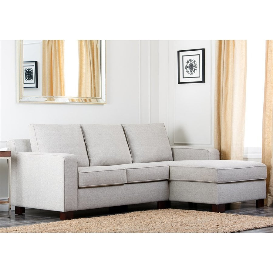 Abbyson Living Regina Light Grey Linen Sectional